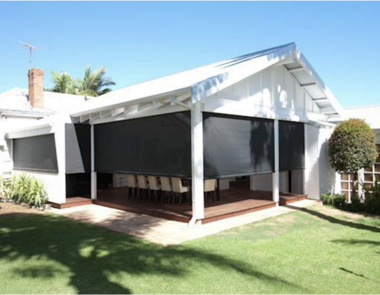 mesh patio shade - outdoor blinds perth