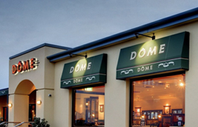 Commercial retractable awnings at Dome Geraldton by Kenlow Perth